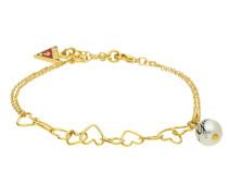 Armband 'ubb11320' gold / rot / perlweiß