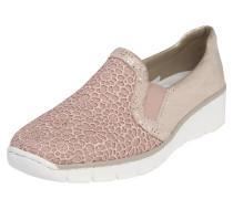 Slipper mit Spitzen-Dekor rosa