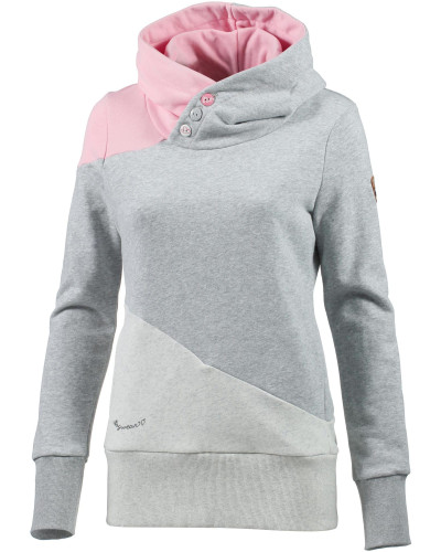 Sweatshirt hellgrau / graumeliert / rosa