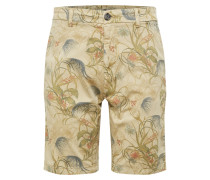 Shorts ecru / braun / dunkelgrün