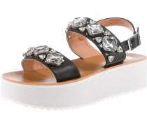 Sandalen schwarz / weiß