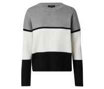 Pullover 'robin' weiß / schwarz / grau