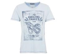 T-Shirt 'Taimo' blau / hellblau