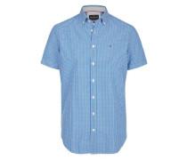 Seersucker Freizeithemd blau / weiß