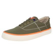 Sneaker 'Menton' oliv / neonorange