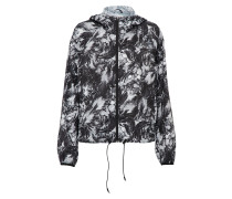 Jacke 'feather Print Blur' grau