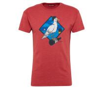 T-Shirt 'Sturmmöwe' blau / rot / weiß