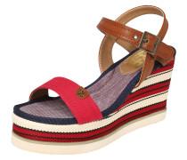 Sandalen beige / blau / rot