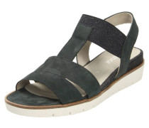 Sandalen dunkelblau / weiß
