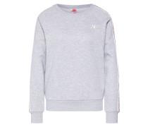 Sweatshirt graumeliert / altrosa / weiß