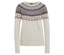 Pullover mischfarben / weiß