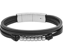 Armband 'jf03001040' grau / schwarz