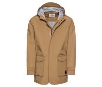 Jacke 'Hooded Mac' beige