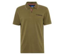 Poloshirts oliv / rot / weiß