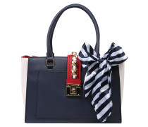 Handtasche 'duvernay' navy / rot / weiß