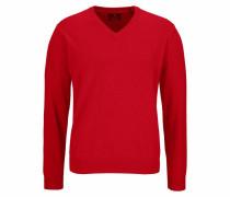 V-Ausschnitt-Pullover feuerrot