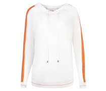 Pullover 'Zola' dunkelorange / weiß