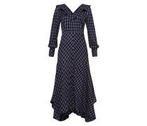 Kleid ecru / blau / nachtblau