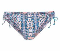 Bikini-Hose navy / aqua / orange / weiß