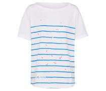 T-Shirt 'Boaty' blau / offwhite