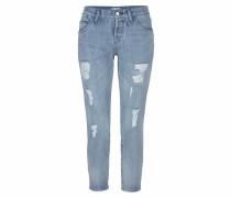 Boyfriend-Jeans blue denim