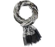 Schal khaki / schwarz / weiß