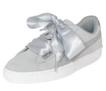 Sneaker 'Suede Heart Safari' hellgrau / weiß