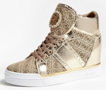 Sneaker gold / hellbraun