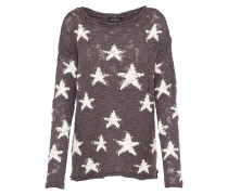 Sweater 'Star' braun / weiß