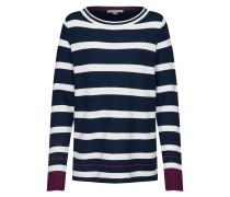 Pullover navy / dunkellila / weiß