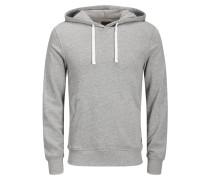 Sweatshirt weiß / graumeliert