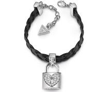 Armband 'Heart Lock' silber