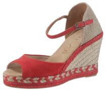 Sandalette beige / rot