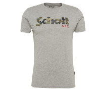 T-Shirt 'tslogo' graumeliert