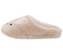 Pantoffel beige / weiß
