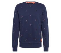 Sweatshirt 'aoe' navy / rot