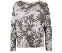 Sweater 'devore Palms' hellgrau / oliv