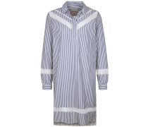 Kleid taubenblau / offwhite