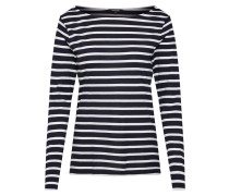 Shirt 'Striped Active' marine / weiß