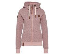 Sweatjacke 'Warum müssen Jacken?' rosa