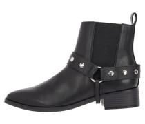 Nieten Ankle Boots schwarz