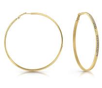 Ohrringe gold / weiß