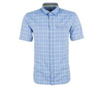 Kurzarmhemd hellblau / weiß