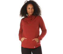 High Neck Kapuzenpullover 'Walk On By' rot