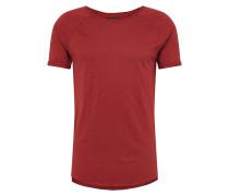 T-Shirt 'basic Rgln Slub' rot