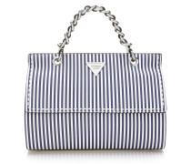 Handtasche 'sawyer' dunkelblau / weiß