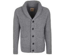 Strickjacke 'jacket Rough' grau