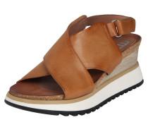 Sandale 'tarde' braun