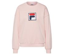 Sweatshirt 'erika' navy / puder / rotmeliert