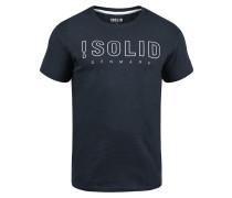 Rundhalsshirt 'Solido' blau